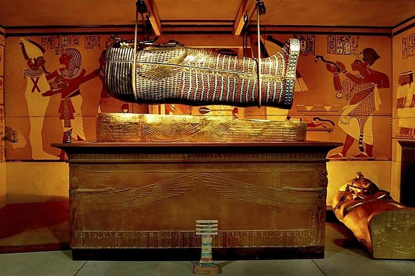 Recreación de la Cámara Funeraria de Tutankamón