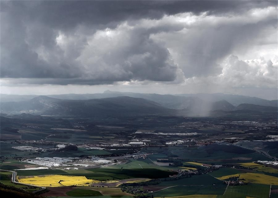 Navarra está en alerta por fuertes lluvias y tormentas