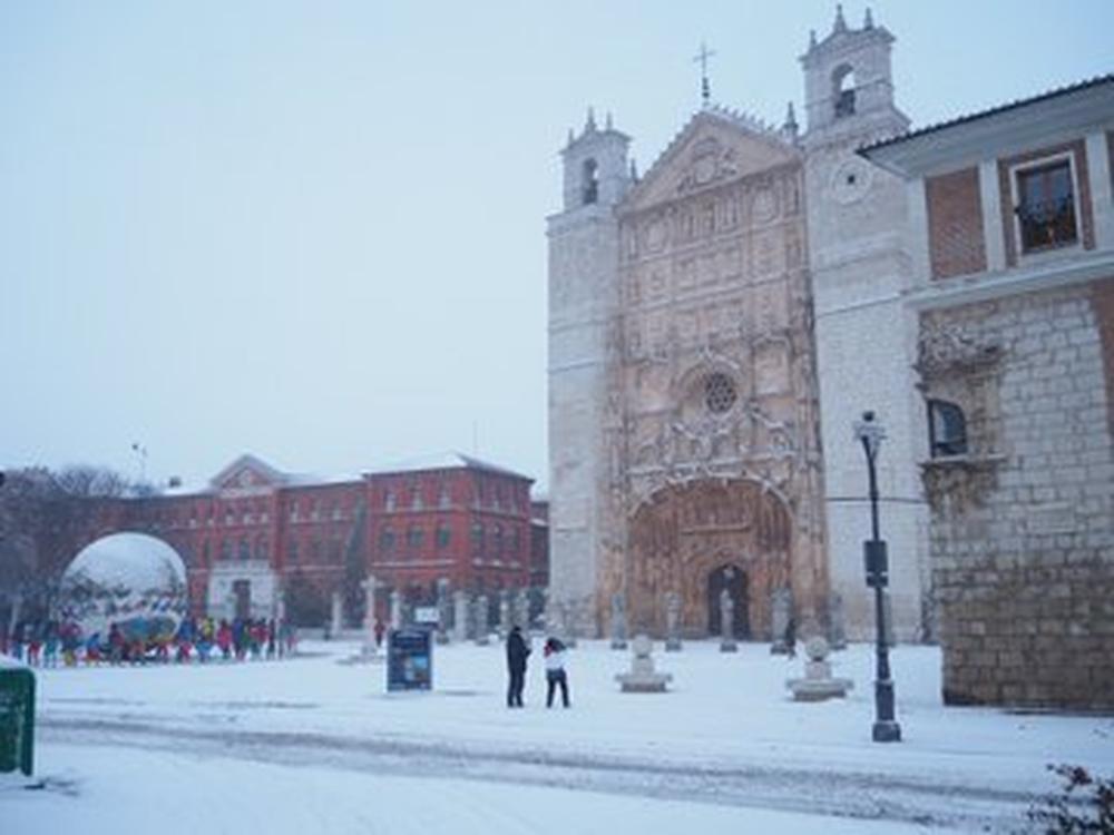 Temporal de nieve en Valladolid.