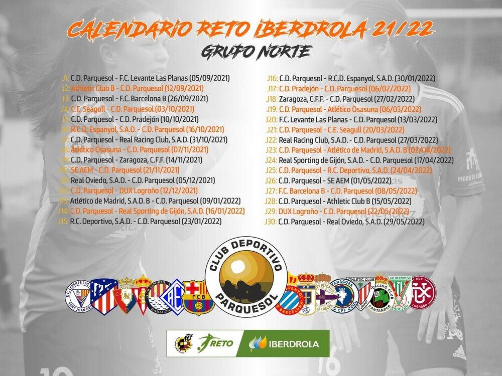 Calendario del CD Parquesol.