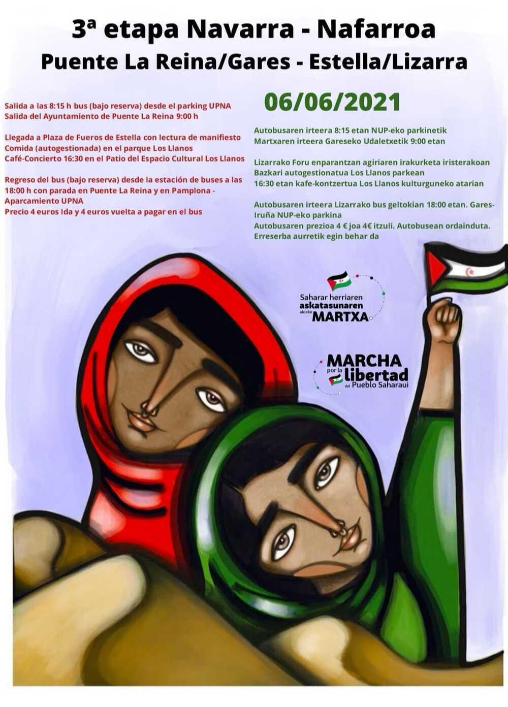Marcha por la libertad del pueblo Saharaui en Estella