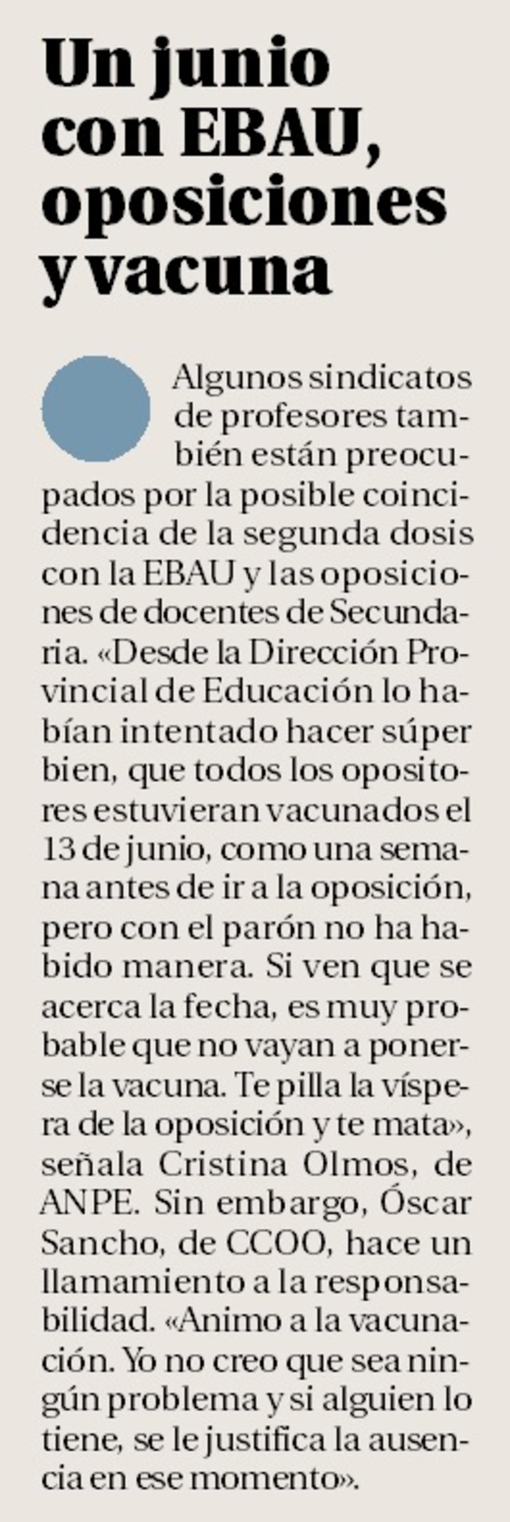 La relajación de las medidas amenaza 117 puestos docentes