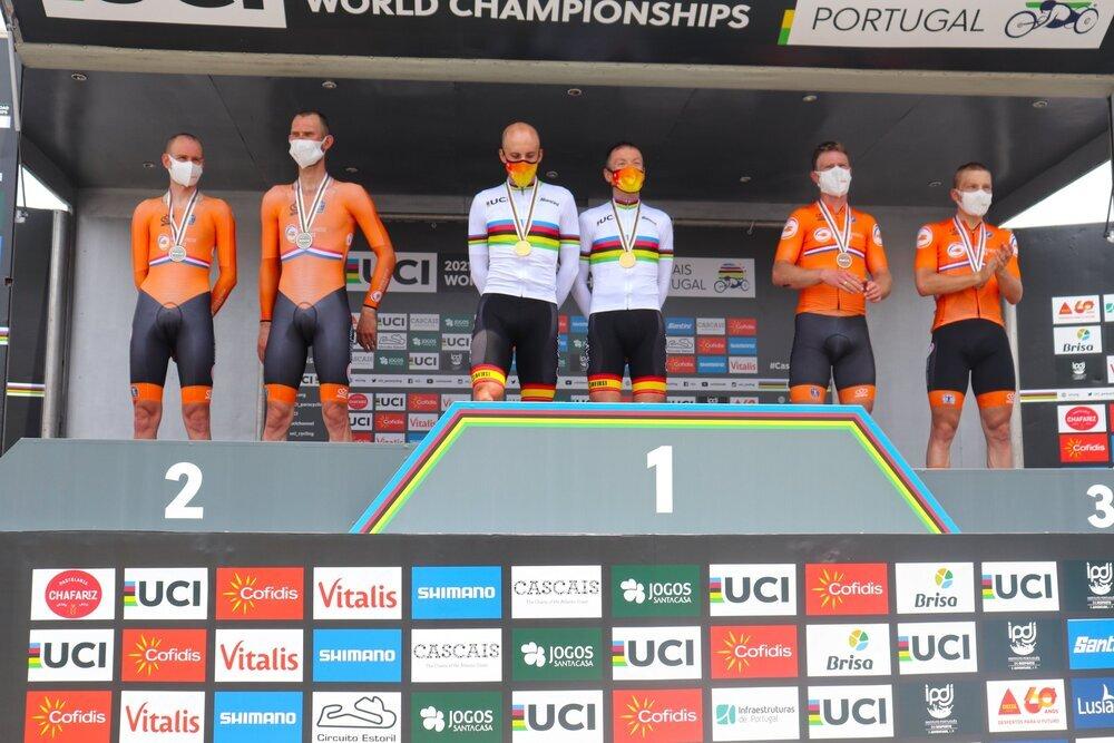 Noel Martín y Christian Venge en el podio.