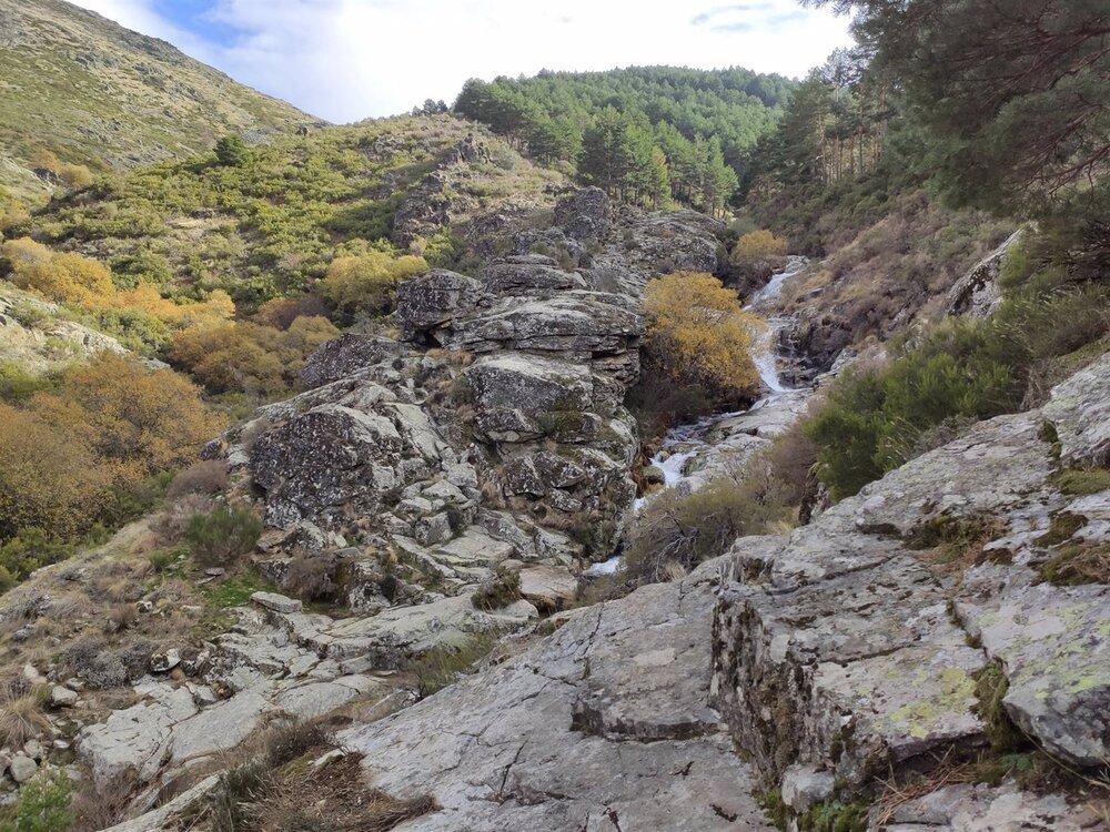 Garganta del Oso en la Sierra de Béjar de Salamanca