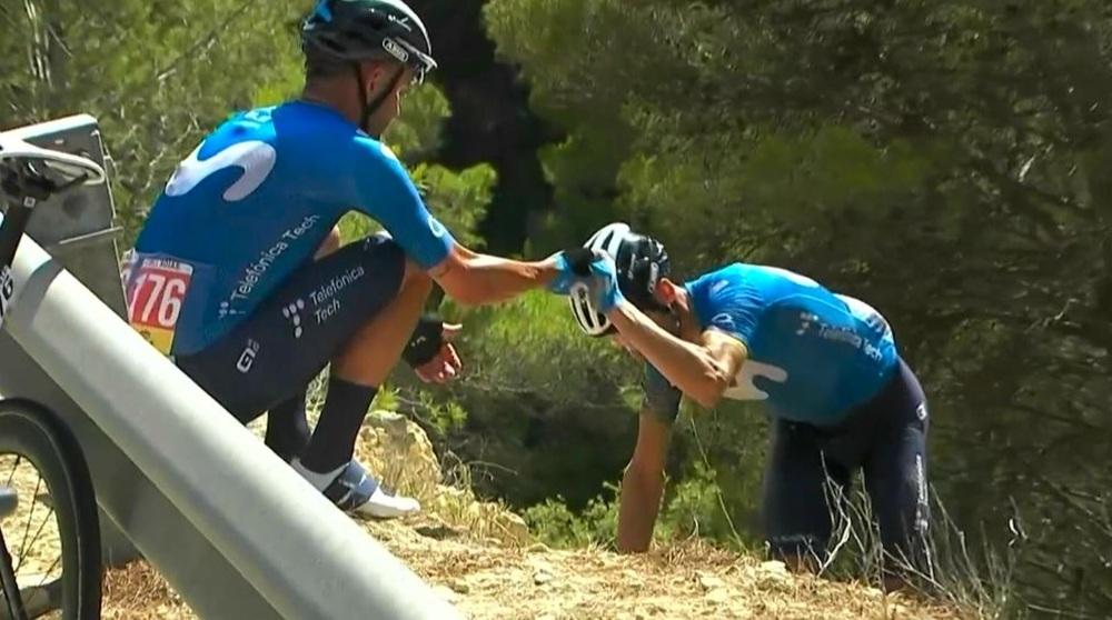 Una rotura de clavícula obliga a Valverde a dejar La Vuelta