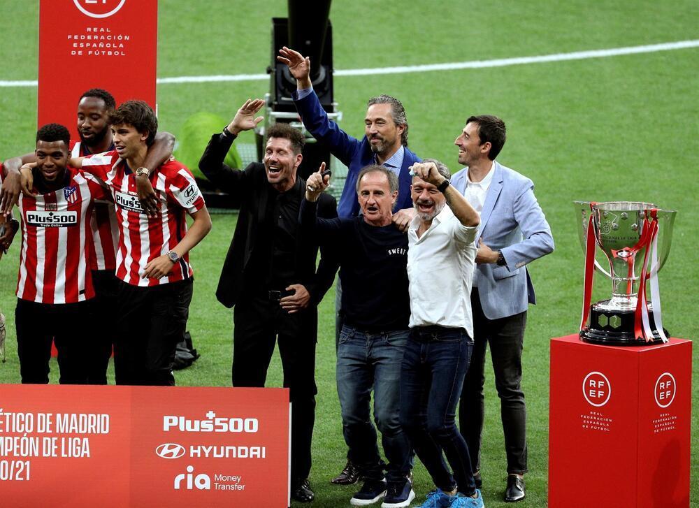 El Atlético celebra su Liga en el Metropolitano