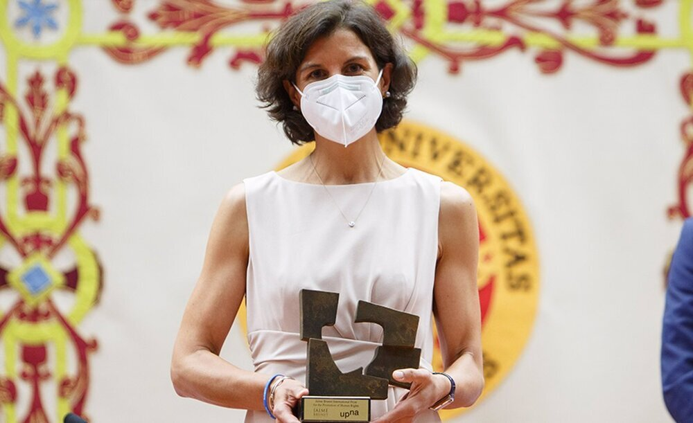 ACNUR recibe en la UPNA el Premio Jaime Brunet