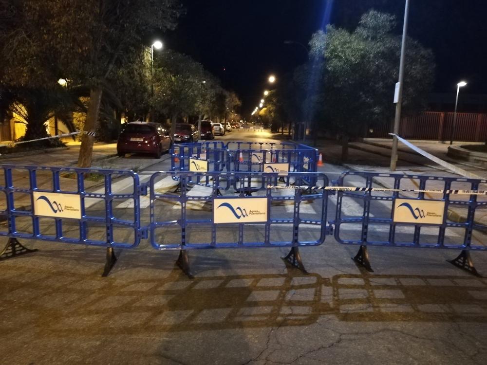 Aguas de Puertollano reparará el hundimiento del colector