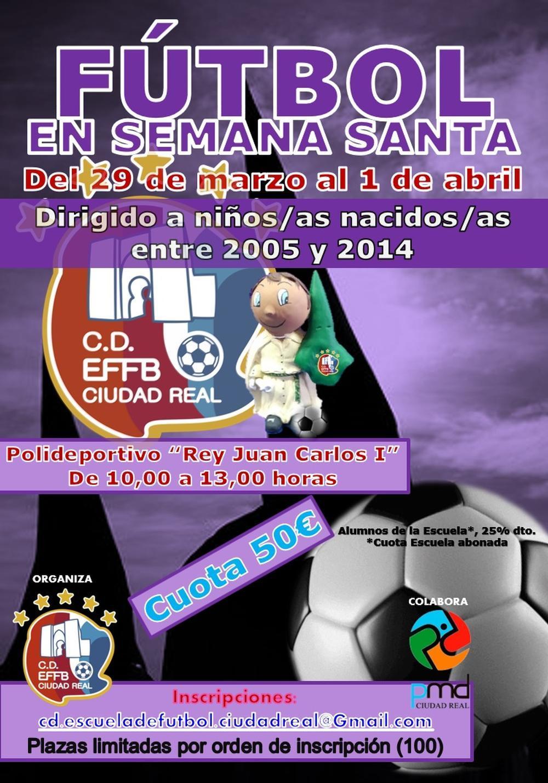 Cartel anunciador del Campus de Semana Santa.