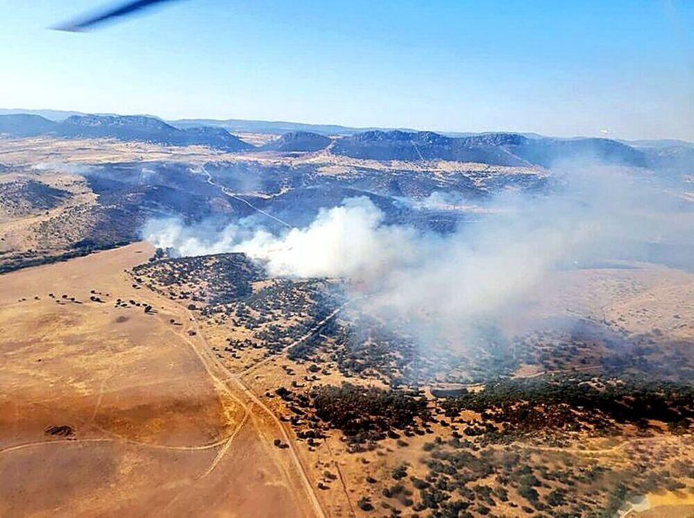 Ciudad Real se ve afectada por la ola de incendios de este lunes con las llamas extendiéndose por Almadén