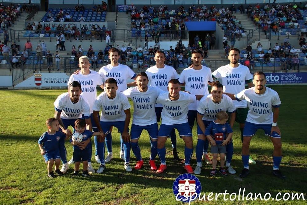 Los jugadores del Calvo Sotelo entraron al campo con camisetas de apoyo Álex Malón, lesionado de larga gravedad.