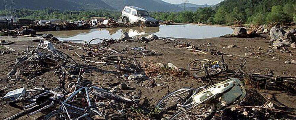 Aspecto en el que aparecieron las instalaciones tras la fuerte tromba de agua.