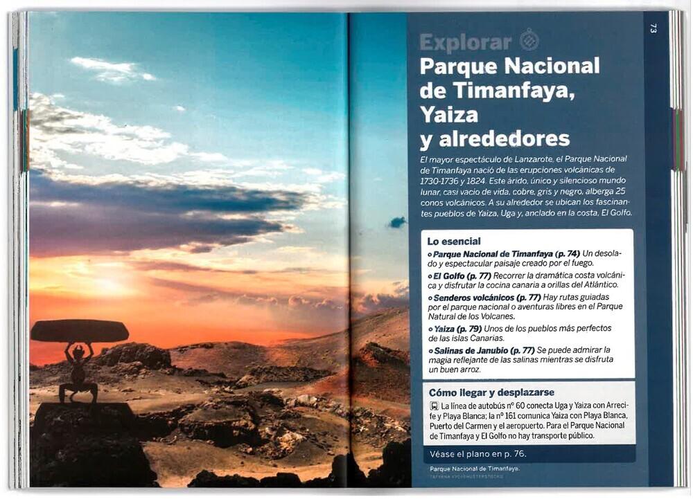 Interior de la Guía de Lanzarote. Parque nacional de Timanfaya...
