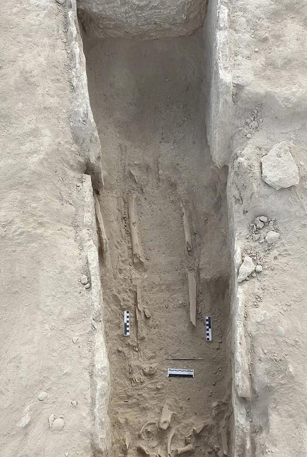 Detalle de una de las tumbas de la necrópolis visigoda.