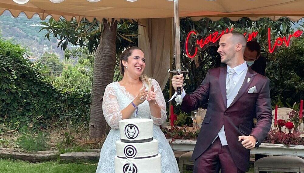 Rodrigo y Alejandra se casaron el pasado sábado un año después de lo previsto por la pandemia en la finca Casa Yanes.