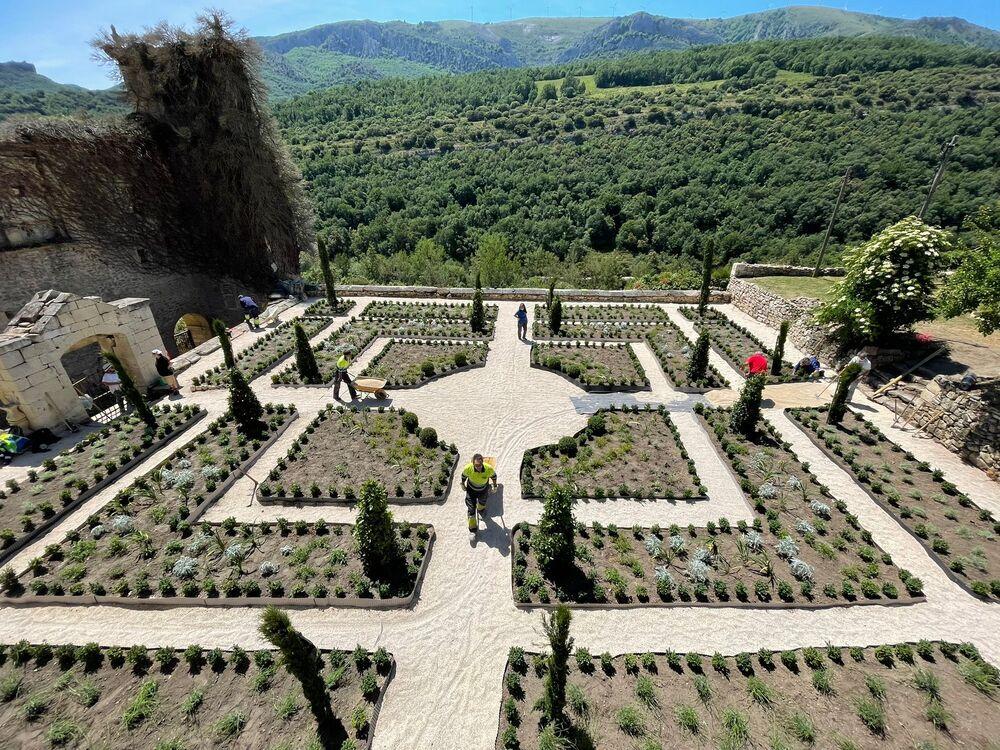 El espectacular resultado en el jardín del monasterio, que emula al que tuvo hace siglos.