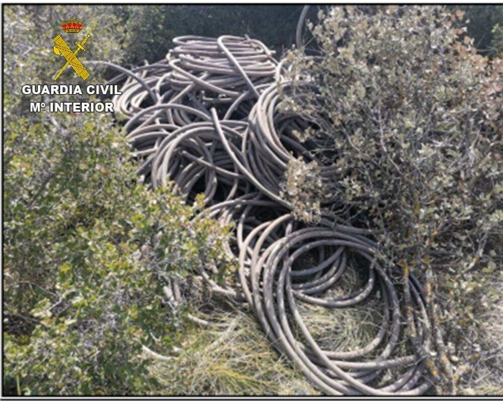 11 detenidos en operación contra robo de cable de cobre