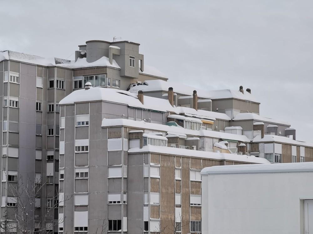 Así amanece Soria el día después de la gran nevada