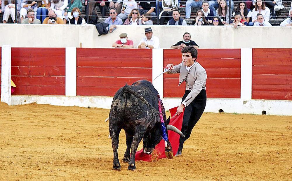 El palentino Guillermo Alonso corta una oreja en Olmedo