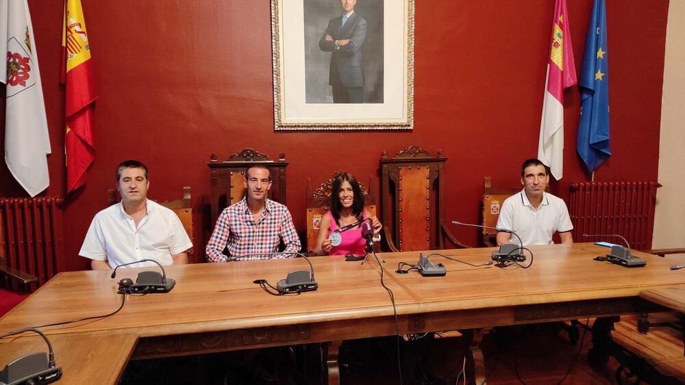 Un momento de la recepción en el Ayuntamiento de Almagro.