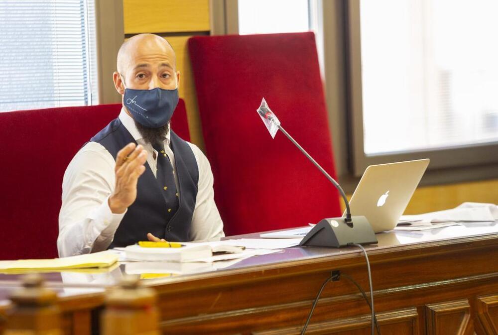 El abogado Jorge Novella, durante su alegato final