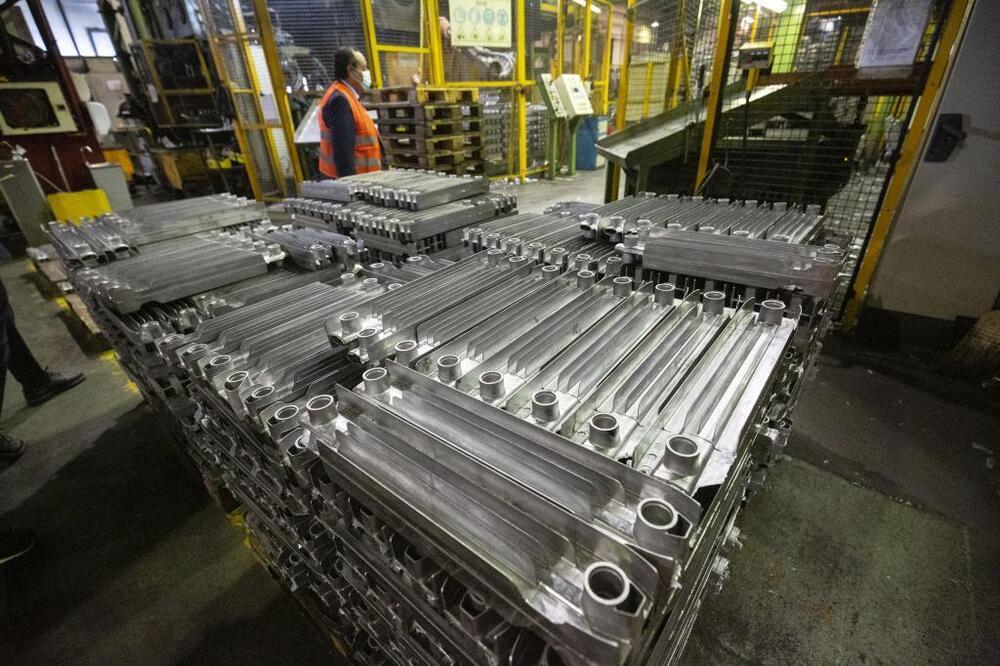 12,6 millones de elementos para montar radiadores elaborará la fábrica de Ferroli en el polígono Burgos Este.