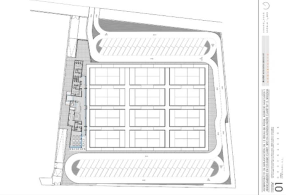 Anteproyecto del complejo de pistas de pádel.