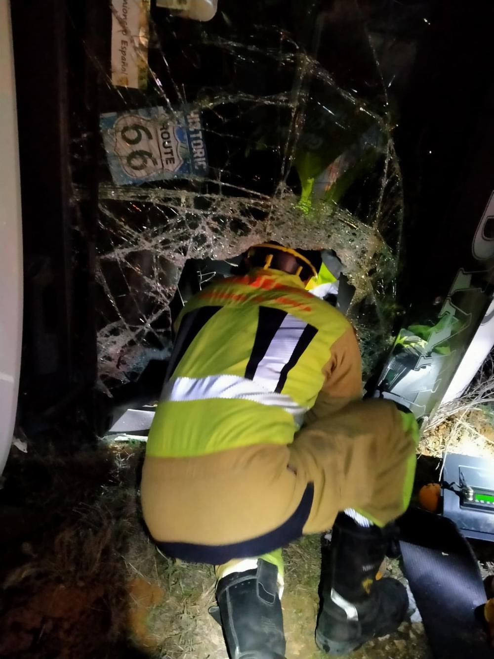 Fallece un camionero en la A-3 a la altura de Minglanilla