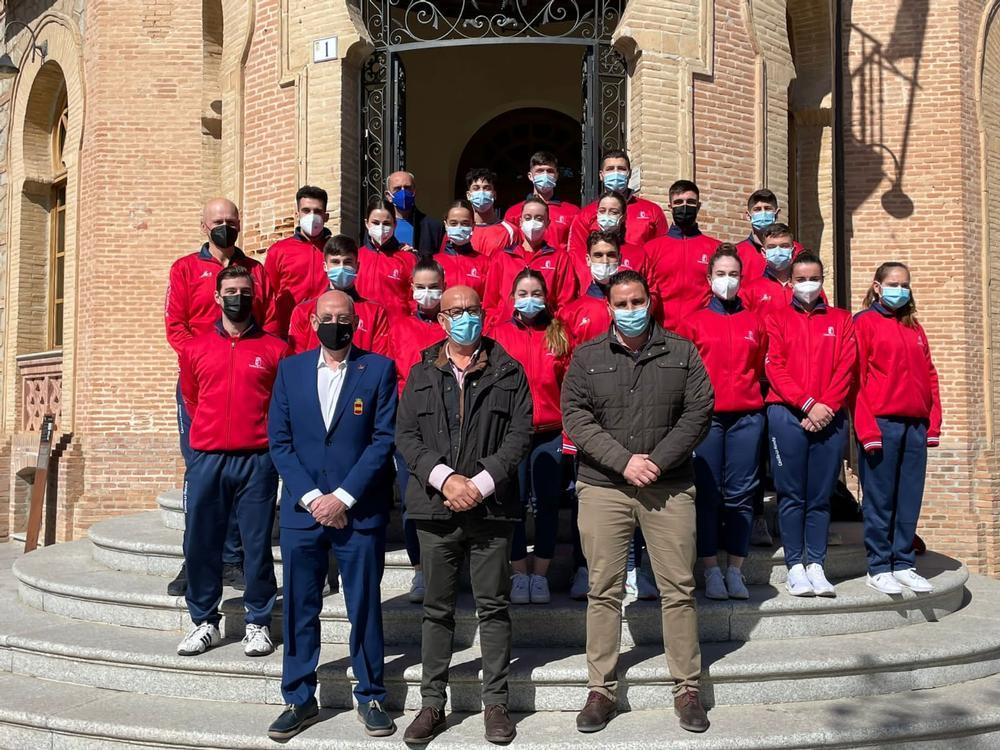 Integrantes de la selección de Castilla-La Mancha.