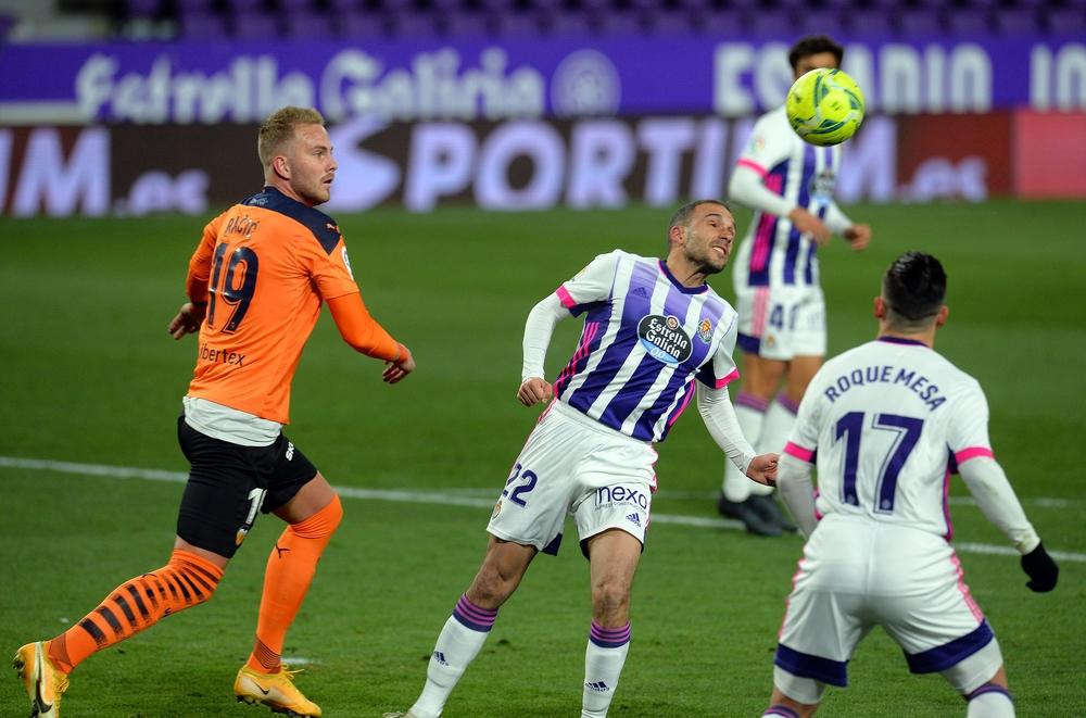 El Real Valladolid perdió contra el Valencia.