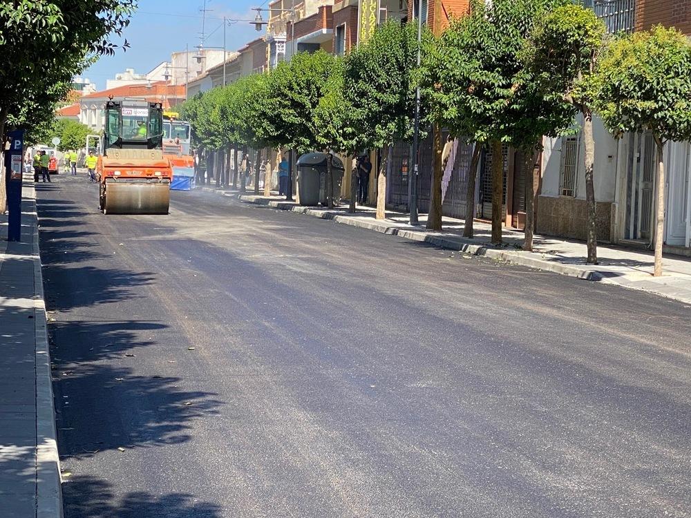 Alcázar continúa con el plan de asfaltado