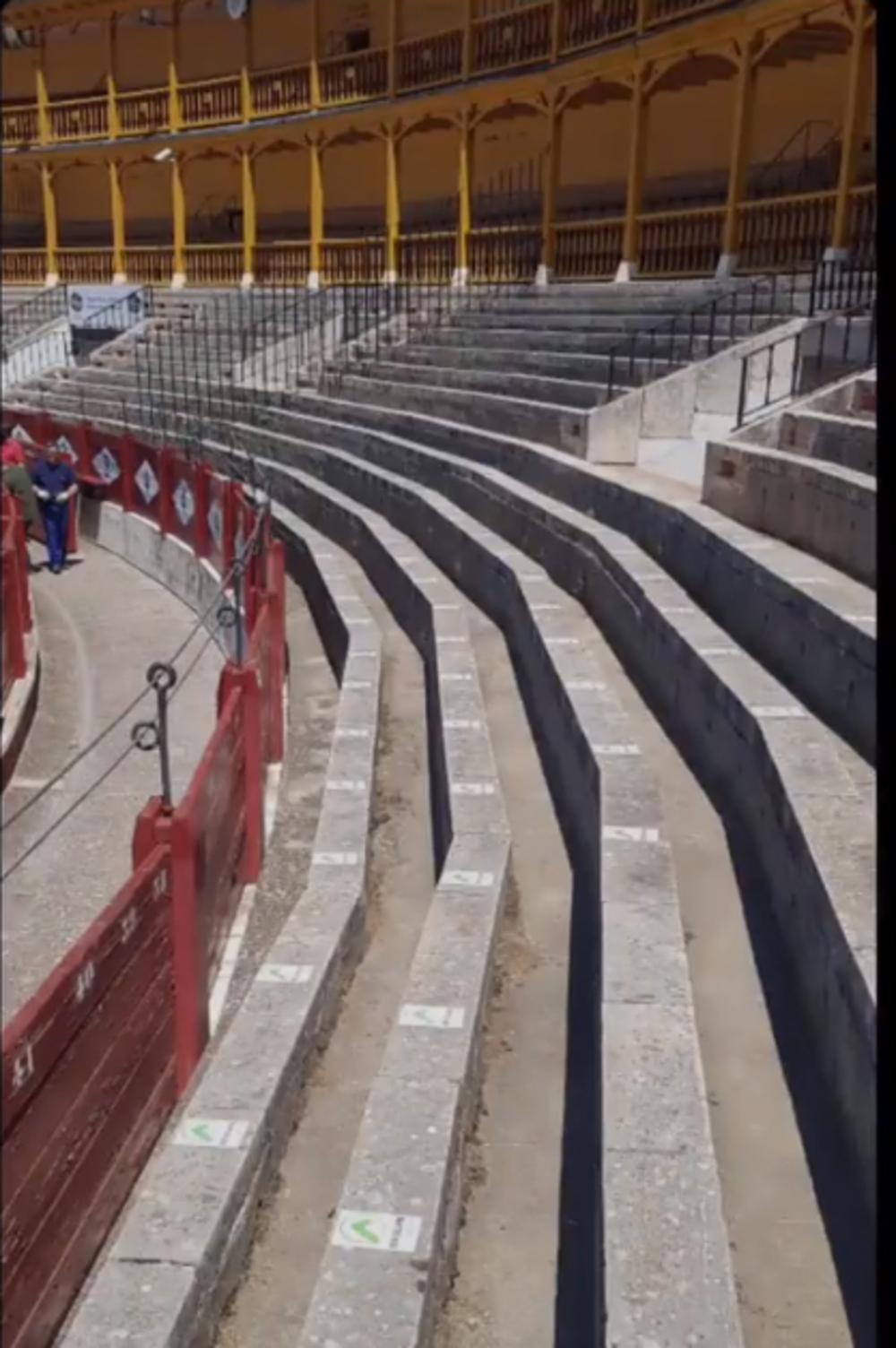 Los asientos preasignados están marcados en los tendidos