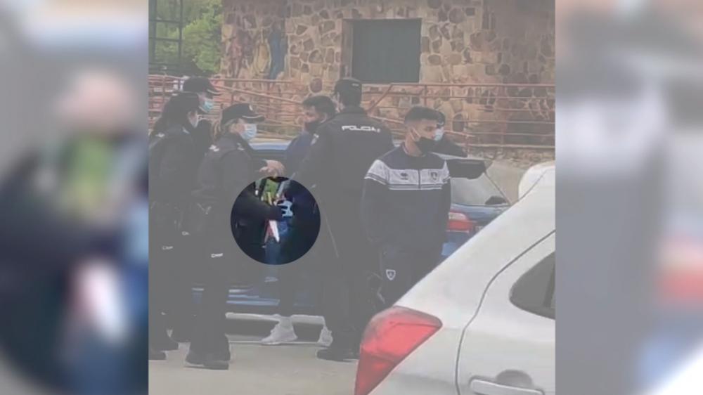 El arma blanca que delata al detenido en Los Pajaritos