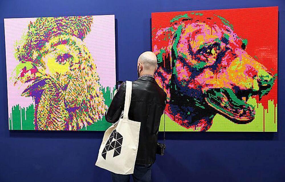 Los trabajos del artista chino Ai WeiWei pudieron verse en la 39 edición de ARCO.