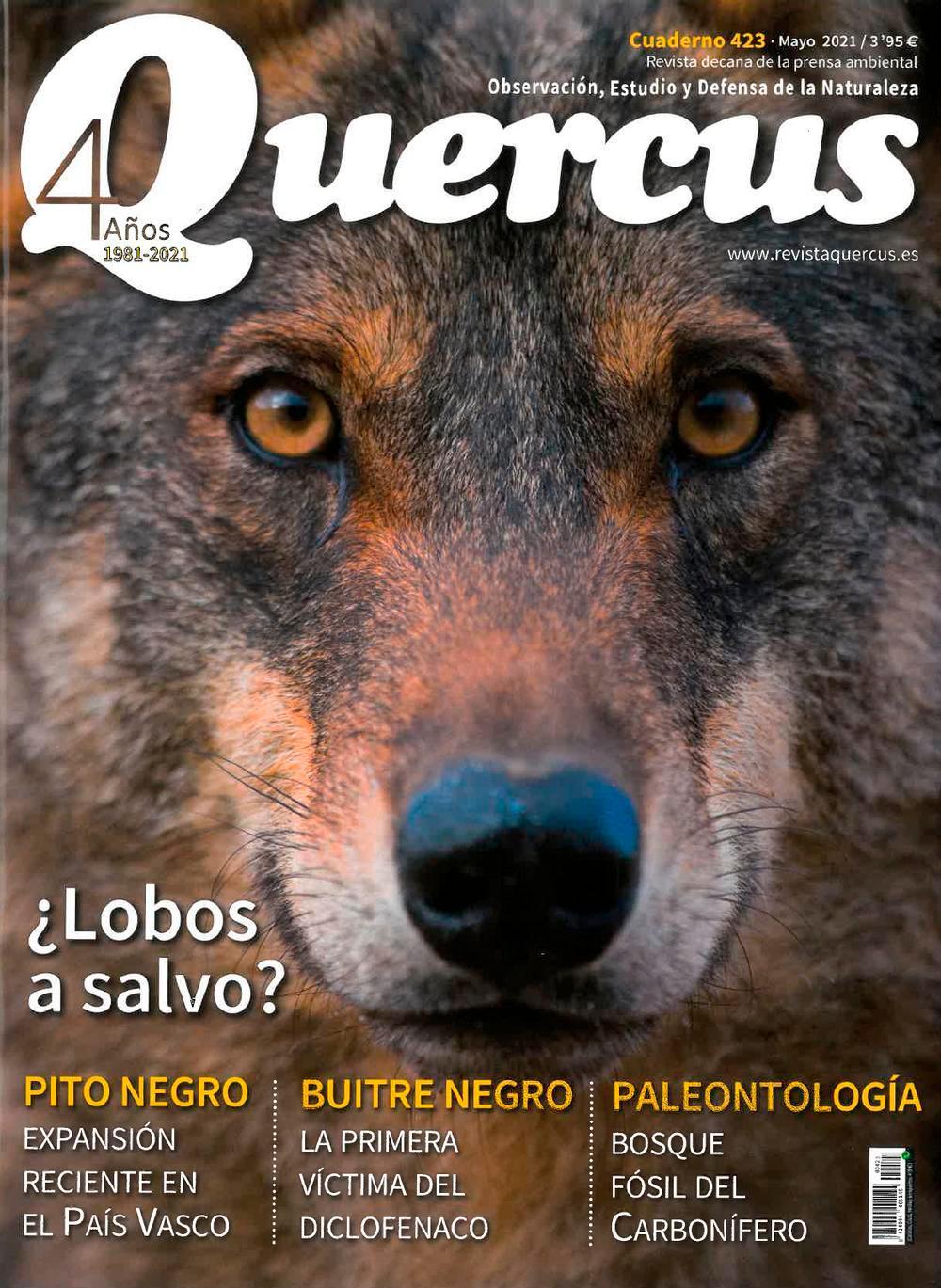 Portada de la revista Quercus de Mayo de 2021