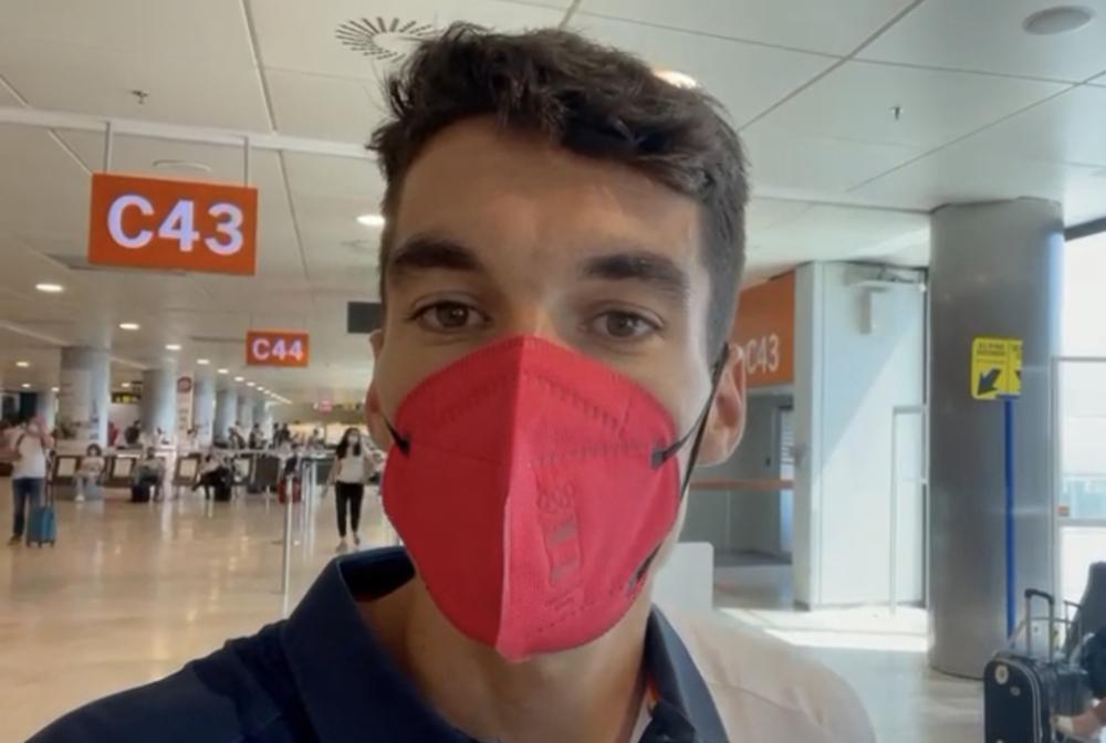 #VIDEO Mateo pone rumbo a Tokio