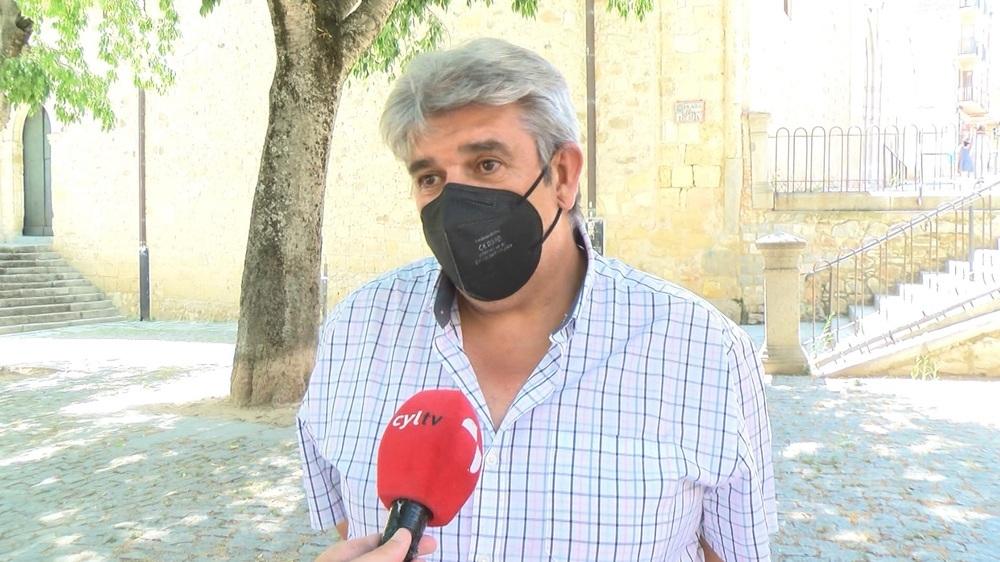 El gerente de la Gimnástica Segoviana, Juan Antonio Sanz.