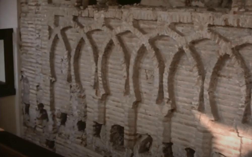 La Real Academia publica el vídeo del descubrimiento en 1978 de la portada del hospital de Nuestra Señora de la Paz de Toledo