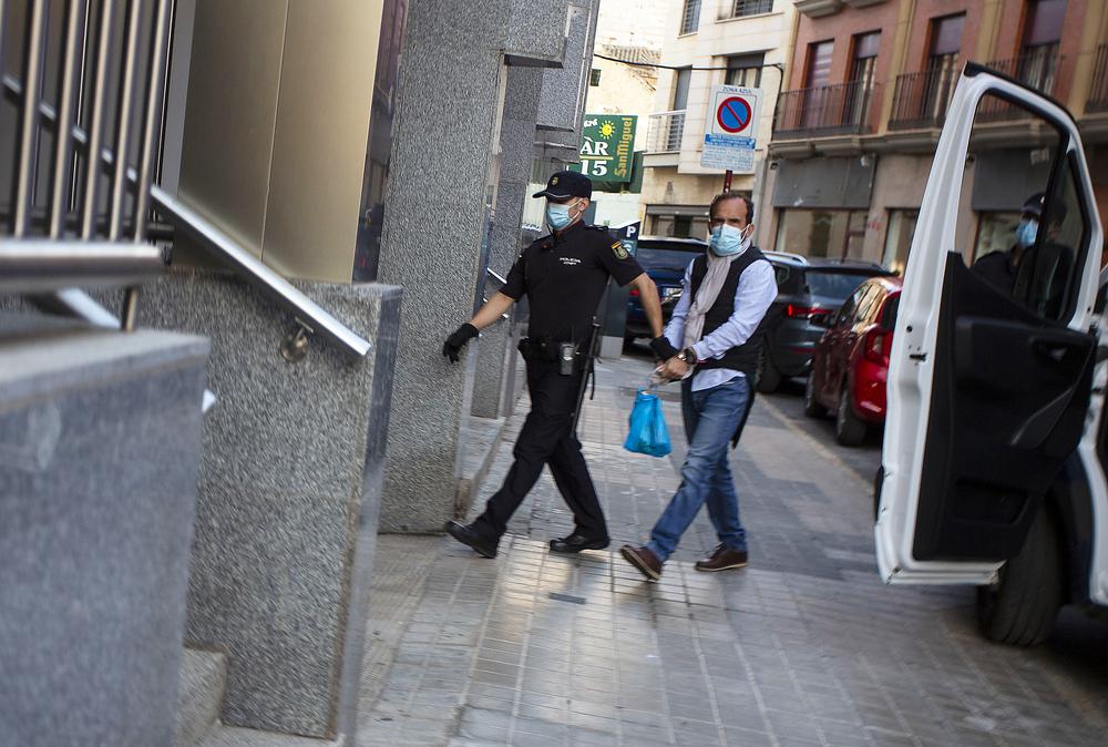El acusado fue conducido por la Policía a la Audiencia