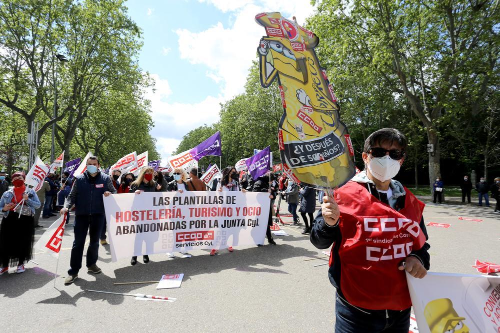 Concentración del Primero de Mayo, Día Internacional del Trabajo.