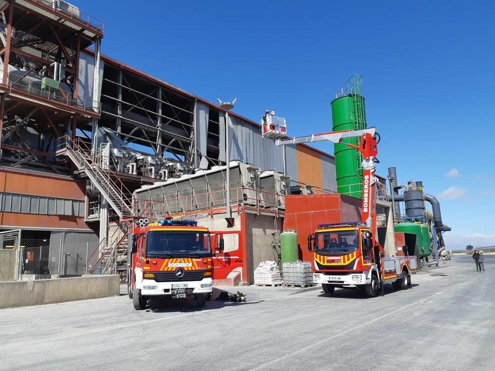 Incendio en la empresa Rugui Steel en Ólvega