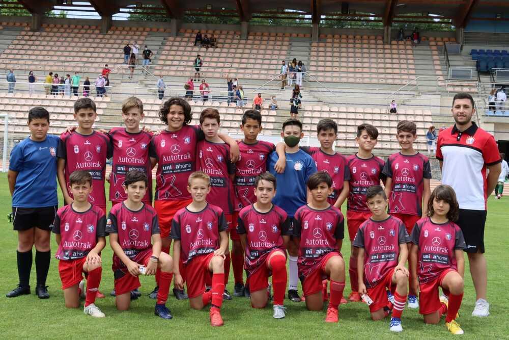Plantilla de la Escuela de Fútbol Base de Ciudad Real.