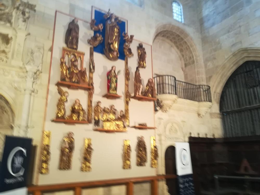 El retablo de Cardeñuela luce en su ubicación original