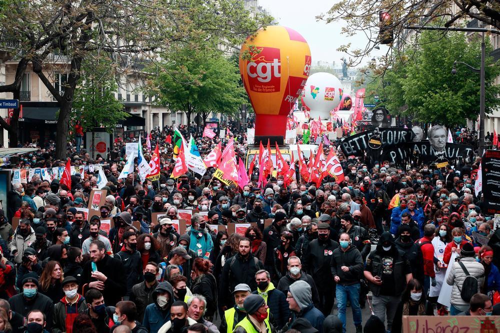 Al menos 34 arrestos en París por el Día del Trabajador