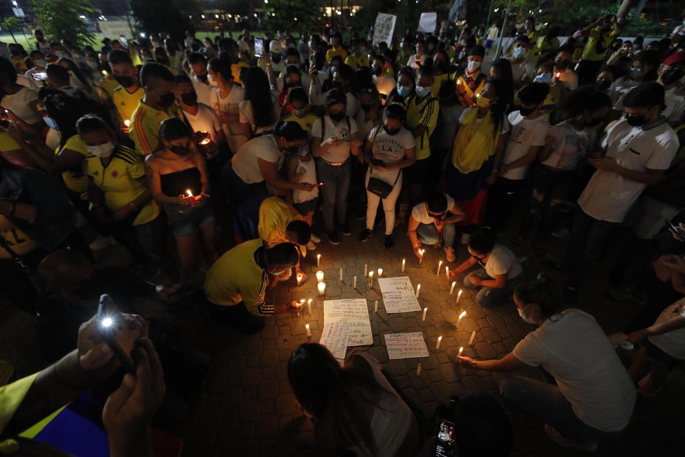 Colombianos residentes en Panamá encienden velas por la unidad de Colombia