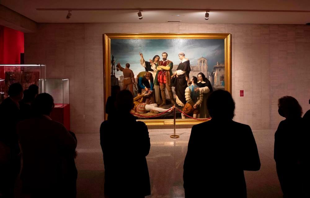 El cuadro 'Los Comuneros' de A. Gisbert, una de las obras más importantes de la exposición.