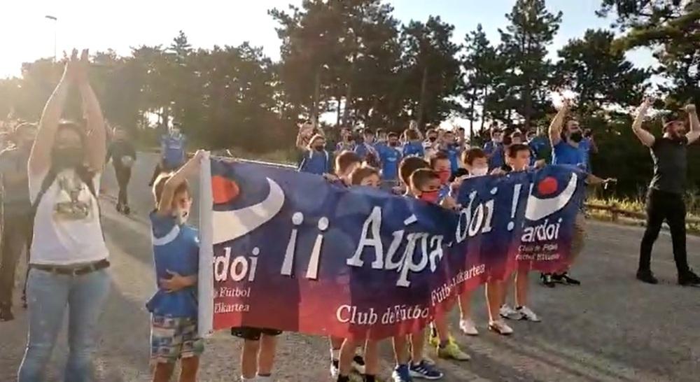 Así recibieron al Ardoi en Zizur Mayor