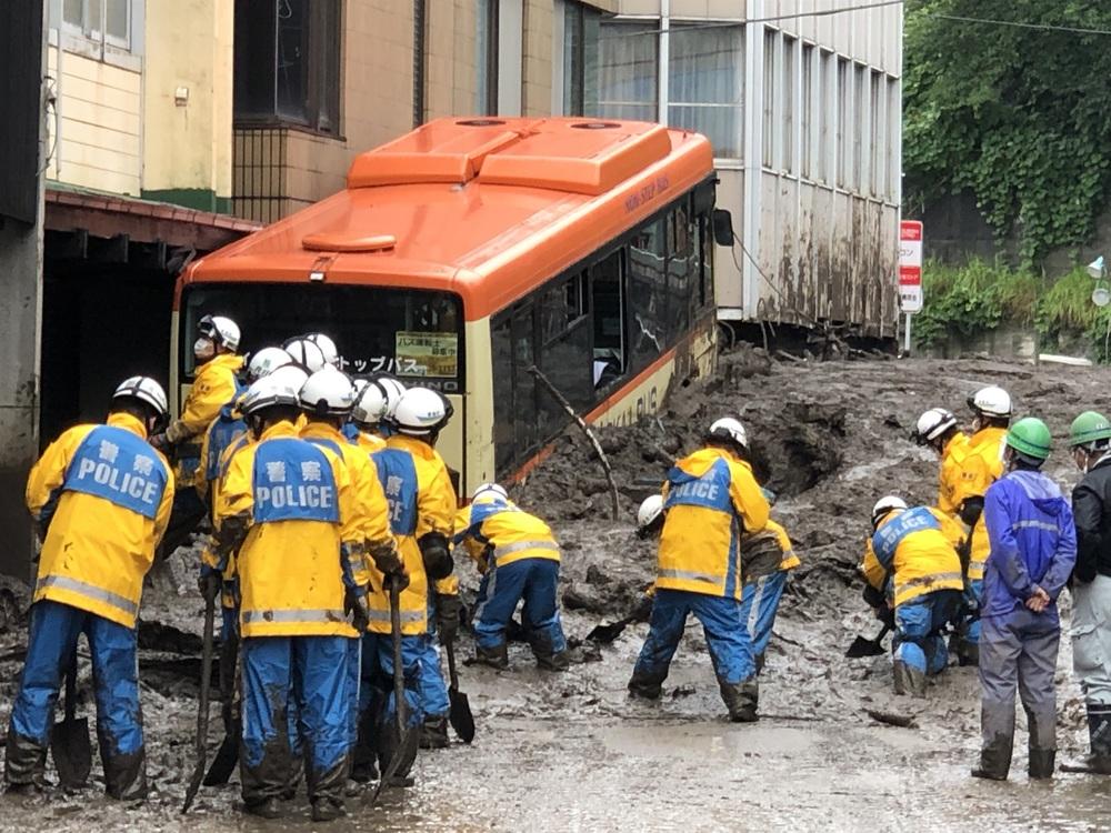 Japón.- Investigan una acumulación de tierra artificial como posible causa del deslave de Shizuoka
