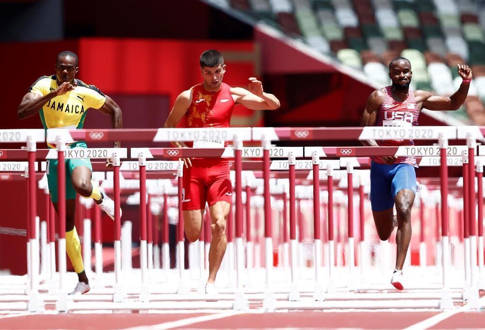 El navarro Asier Martínez a la final de 110 m vallas