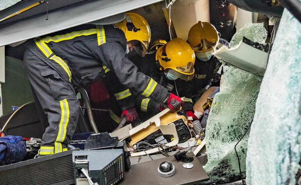 Accidente múltiple en Piedrabuena con 11 heridos, 4 graves